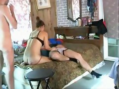 Hawt wife cuckolding with 10in schlong on hidden livecam