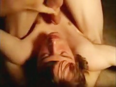 Self sucking my own jubilant load of shit on cam