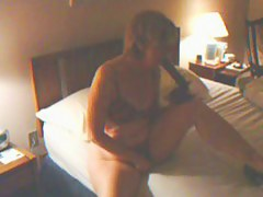 My hot get hitched carrying-on with a dildo