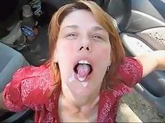 Car oral-service fun and sperm noise abroad with a mature I'd like concerning fuck