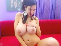 latina with chubby melons teases on cam