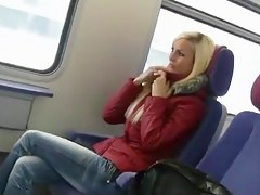 lovable german woman sex on public transport
