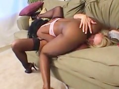 hubby hires swarthy lesbo escort to fuck his wife
