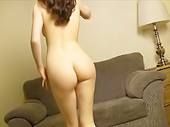 Concupiscent European Hotty Dances Booty In Nature's Garb