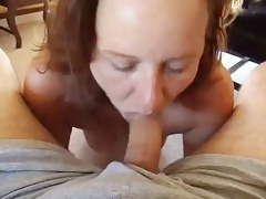 Hawt Mamma Blows mans Knob and Vindicate Him Cum Hard in Will not hear of Mouth