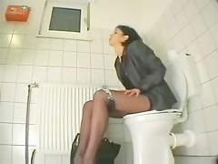 My friend stopping over us masturbates close to toilet. Shut down cam