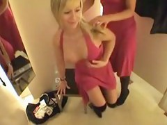 Adorable lesbies getting perverted in changing room