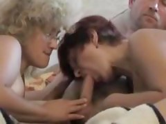 two couples having a swingers party