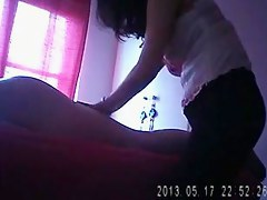 Unshaved Chinese masseuse bonks her purchaser on hidden filigree camera