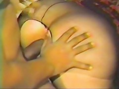 White chubby beautiful woman wife bonks large melancholic bull part 1
