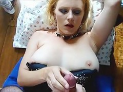 Breasty Blond Woman Surprised with a Large Spunk Flow Facial