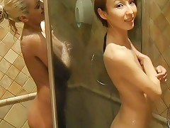Pickup fuck with hot golden-haired coupled with asian