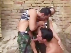 another bisexual military threesome