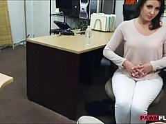 Customers wife fucks by horny pawnkeeper to secure extra money