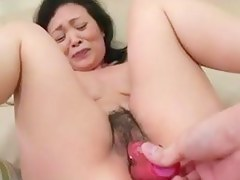55yr venerable Granny Kayoe Ozawa Squirts coupled with Creamed (Uncensored)