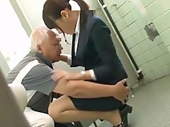 Japanese Grandpa having divertissement involving young girls ornament 1