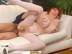 Young lad pounding mature in the ass