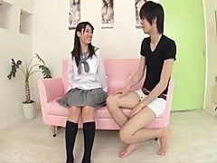 Cute Asian School Girl With a Nice Gluteus maximus (60FPS)