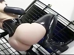 Femdom for dear boy in latex