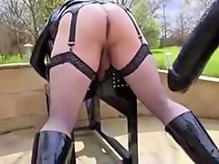 Slutty dykes in hot female domination porn impersonate