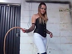 High heels high leather postilion whipping