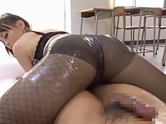 Hot Asian chick in XXX massage video