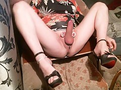 Anal Fisting While Stroking Shaved Clit