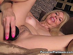 Erica Lauren in Black Dildo In Lie alongside