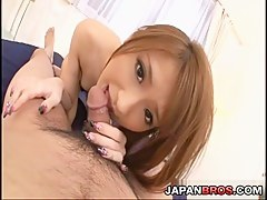 Yuzu Shiina get drilled deep by a pain cock and cum-filled
