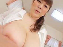 milf Nami Horikawa broad in the beam titty hand job by eliman