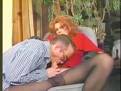 Candy B Vintage Tgirl  sucks put away and bonks her cherished