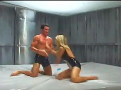 Latex Oil Fights - Vicky Vette