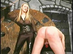 Crysta - A Slow, Hard Caning by depreciatory Domina