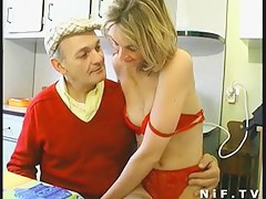Non-Professional French pair in three-some anal fucking with Papy Voyeur