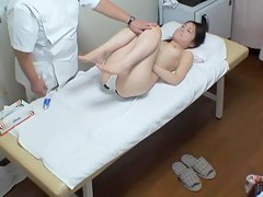Noisy tender Asian bird getting licked by her massage therapeutist really adroitly