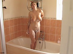 Unfurnished coddle enjoys a bath topless down blouse style