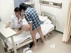 Awesome nurse screwed by her patient respecting voyeur medical video