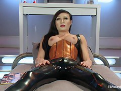Energize a Penis onto Her Beautiful Latex Covered Crotch Sci Fi Lovemaking