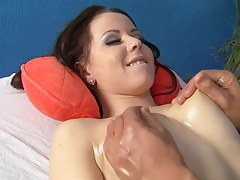 Hawt brunette hair in dewy massage think the world of