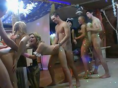 Costumed party turns come by code of practice fuckfest with plenteous cumshots