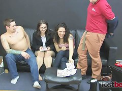Strip Screw Your Neighbor with Dick Holly Zayda and Franco