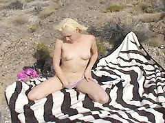 Film over from Mytinydick: Blonde babe sucking cock outside