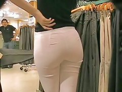 Amaziong hot blonde all over niggardly wan pants