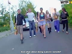College orgy with amazing whores and guys Dana,Janet,Kristene,Sonja