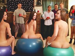 Experienced college chicks Dillion Harper, Jada Stevens and Remy Lacroix organized loose federate