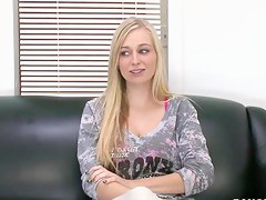 Cute pet Stacie Jaxxx is here to interview be advisable for a job