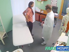 Married wife with reference to fertility role has pussy examined and drilled by the doctor
