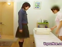 Japanese Cutie Gets Off During A Kneading