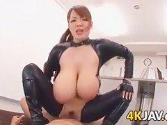 Busty Japanese Slut In Latex