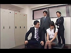 Cute receptionist is gangbang with suppliers ..